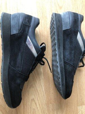 Santoni Sneaker, schwarz, grau, silber, Gr.41