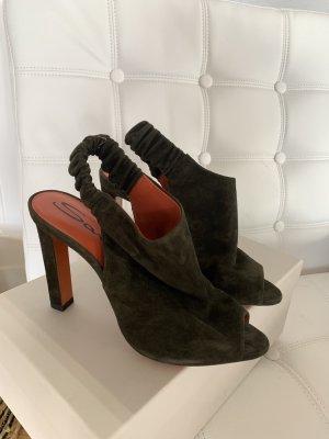 Santoni Velour Sandaletten Heels Gr. 39 nagelneu