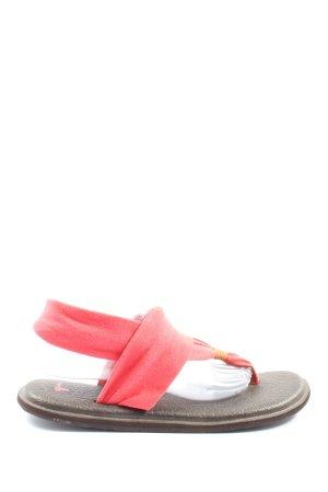 Sanuk Sandalias Dianette rojo estilo extravagante