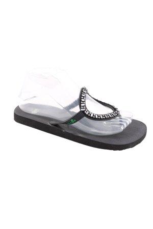 Sanuk Zehen-Sandaletten schwarz Casual-Look