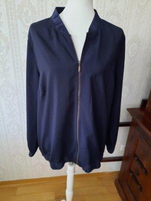 Sara Lindholm Blouson dark blue polyester