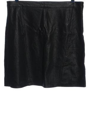 Sara Lindholm Faux Leather Skirt black casual look