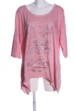 Sara Lindholm Print-Shirt pink meliert Casual-Look