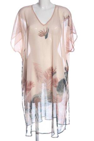 Sara Lindholm Tunikakleid pink-schwarz abstraktes Muster Casual-Look
