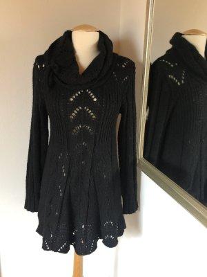 Vestido de manga larga negro