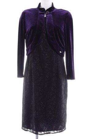 Sarah Kern Abendkleid schwarz-dunkelviolett Elegant