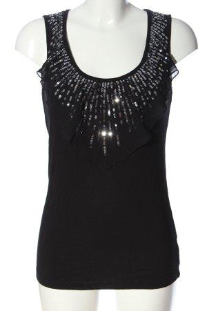 Sarah Kern Sleeveless Blouse black casual look