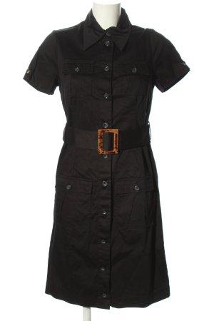 Sarah Kern Hemdblusenkleid schwarz Casual-Look