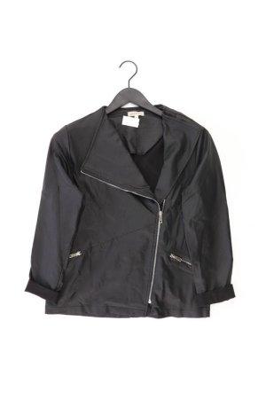 Sarah Kern Kunstlederjacke Größe 42 schwarz aus Viskose