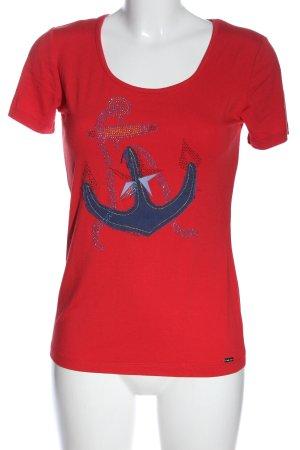 Sarah Kern T-Shirt rot Motivdruck Casual-Look