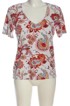 Sarah Kern T-Shirt weiß-hellorange Allover-Druck Casual-Look