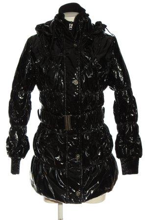 Sarah Kern Long Jacket black quilting pattern casual look