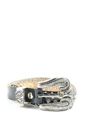 Sarah Kern Cinturón de cuero de imitación negro look casual