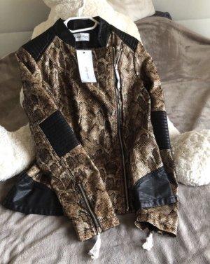 Sarah Kern Leather Jacket multicolored