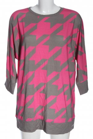 Sarah Kern Longshirt pink-hellgrau abstraktes Muster Casual-Look