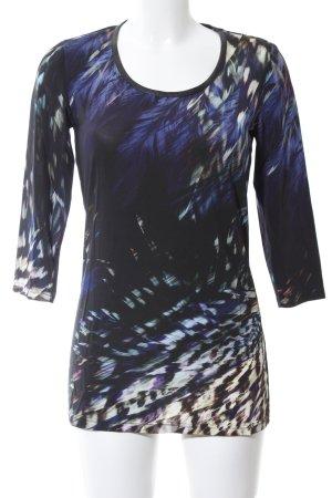 Sarah Kern Longsleeve blau abstraktes Muster Casual-Look