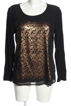Sarah Kern Longsleeve schwarz-bronzefarben Casual-Look