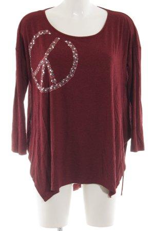 Sarah Kern Oversized Shirt rot Motivdruck sportlicher Stil
