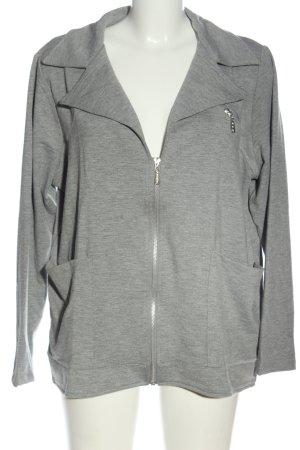 Sarah Kern Shirt Jacket light grey flecked casual look