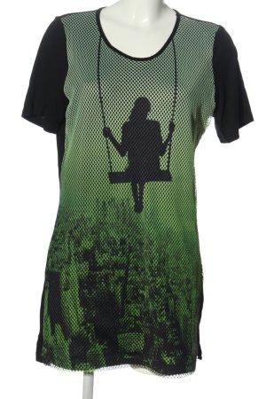 Sarah Kern Shirt Dress black-green themed print casual look