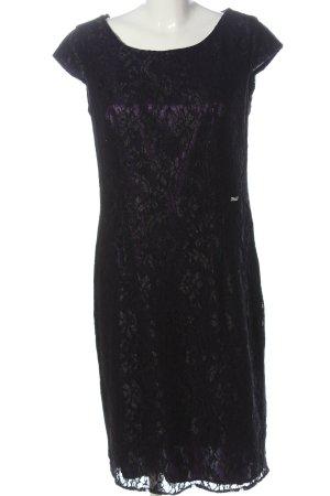 Sarah Kern Lace Dress lilac-black elegant