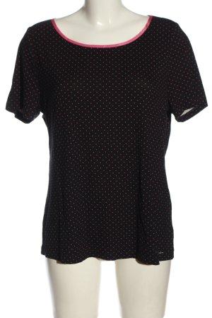 Sarah Kern T-Shirt schwarz-pink Allover-Druck Casual-Look