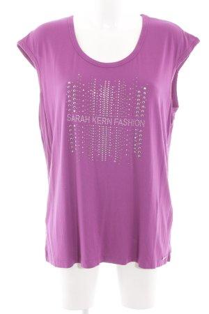 Sarah Kern T-Shirt pink Schriftzug gedruckt Casual-Look