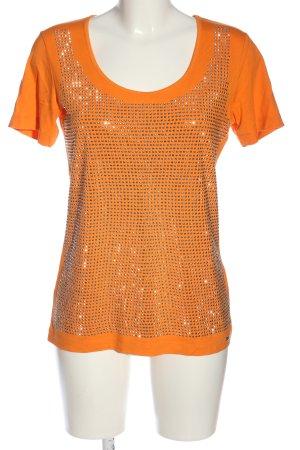 Sarah Kern T-Shirt hellorange-silberfarben Elegant