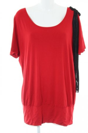 Sarah Kern T-Shirt ziegelrot-schwarz extravaganter Stil