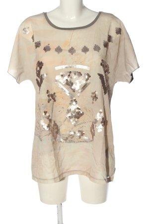 Sarah Kern U-Boot-Shirt hellgrau-creme Casual-Look