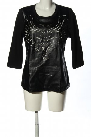 Sarah Kern U-Boot-Shirt schwarz-weiß abstraktes Muster Casual-Look