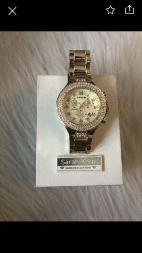 Sarah Kern Reloj con pulsera metálica naranja dorado