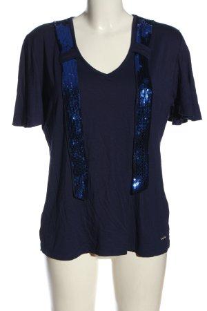Sarah Kern V-Ausschnitt-Shirt lila-blau Casual-Look