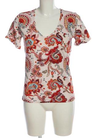 Sarah Kern V-Ausschnitt-Shirt Allover-Druck Casual-Look
