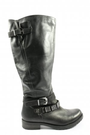 Sarah Kern Wide Calf Boots black casual look