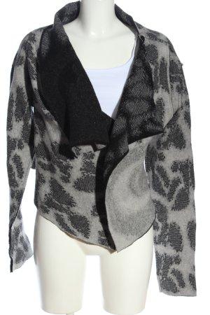 Sarah Pacini Cardigan light grey-black allover print casual look