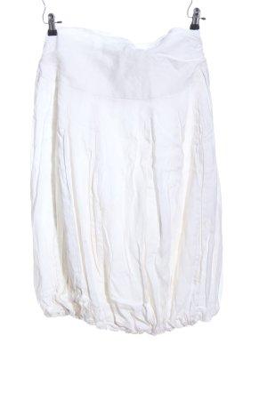 Sarah Pacini Jupe en lin blanc style décontracté