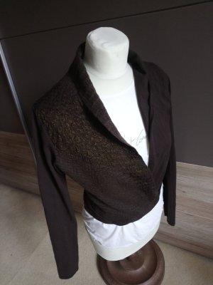 Sarah Pacini Knitted Vest bronze-colored-dark brown