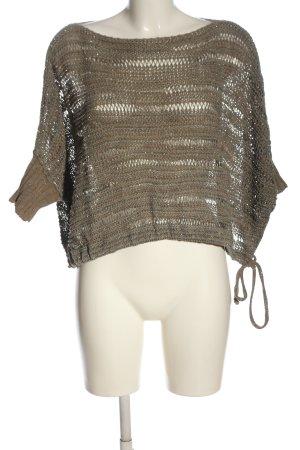 Sarah Pacini Knitted Sweater brown-light grey casual look