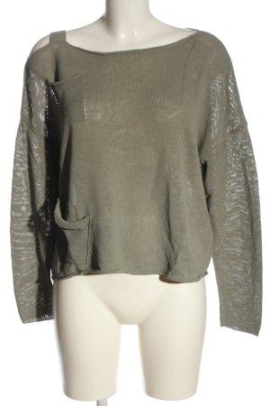 Sarah Pacini Knitted Sweater light grey casual look