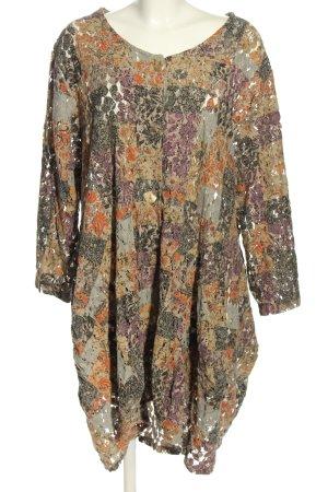 Sarah Santos Manteau en tricot imprimé allover style décontracté