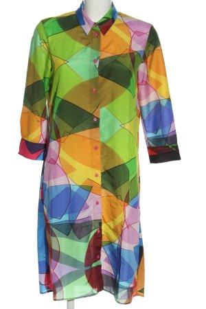 Sarar Koszulowa sukienka Abstrakcyjny wzór W stylu casual