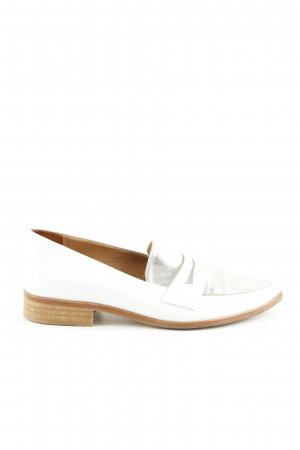 Sarenza Slipper weiß-silberfarben Business-Look