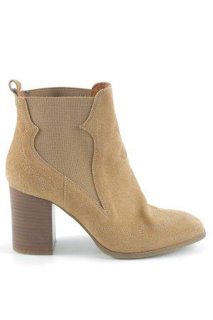 Sarenza Stiefeletten Camel Hellbraun Leder Fashion Design Stiefel