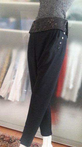 René Lezard Pantalón estilo Harem negro