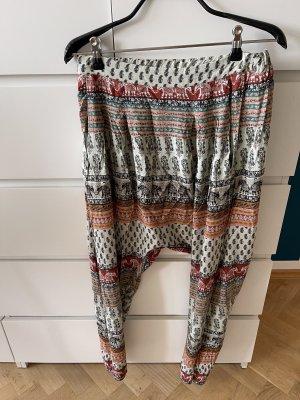Pull & Bear Pantalon large multicolore
