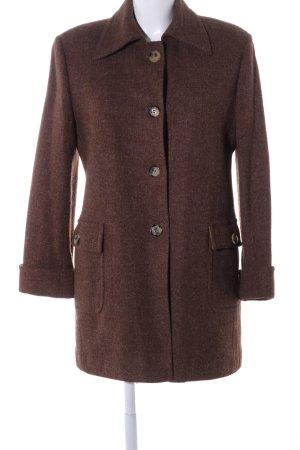 Sartoria D. Bensussan Abrigo de lana marrón estilo «business»