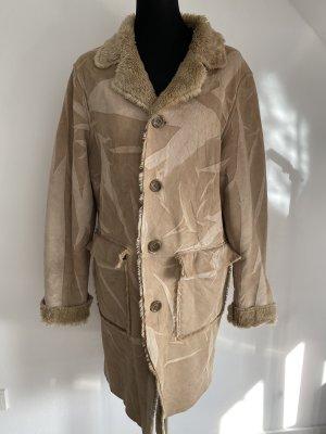 Sasch Manteau en fausse fourrure beige clair