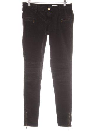 Sass & bide Pantalone di velluto a coste nero-oro stile casual