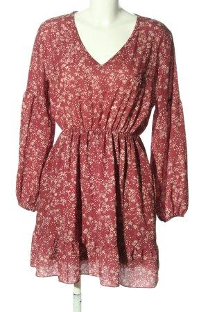 SassyClassy Blusenkleid braun-creme Allover-Druck Elegant